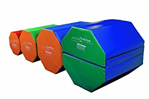 Tumbl Trak Octagon Tumbler Random Colors Vinyl Covered Octagonal Shaped Foam, 24-Inch Width x 24-Inch Length x 30-Inch Height