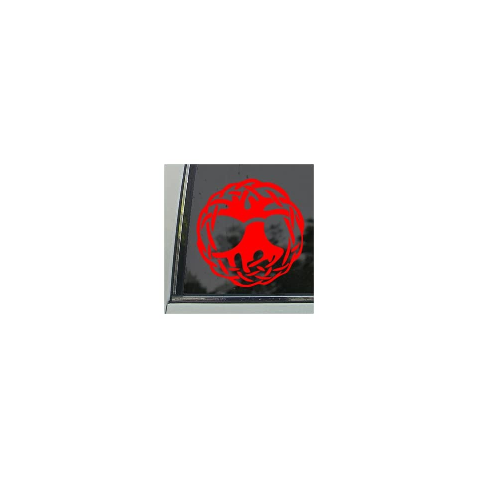 Celtic Wicca Witch Symbol Ball Of Twine Red Decal Red
