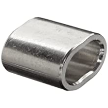 """Loos Cableware SL11-4 Stainless Steel Crimping Sleeve Set for 1/8"""" Diameter Wire Rope (Pack of 5)"""