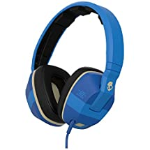 Skullcandy Crusher Headphones with Built-in Amplifier and Mic (ILL Famed Royal and Cream)