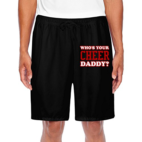 Men Sports Jersey Short Who's Your Cheer Daddy Retro Cheer Shorts