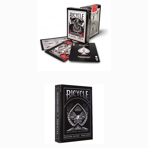 2 mazzi Carte Bicycle Black Tiger Red+Shadow M.