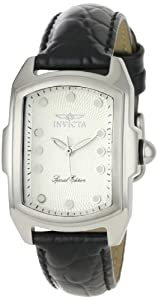 Women's Lupah Special Edition Silver Dial Black Leather Watch
