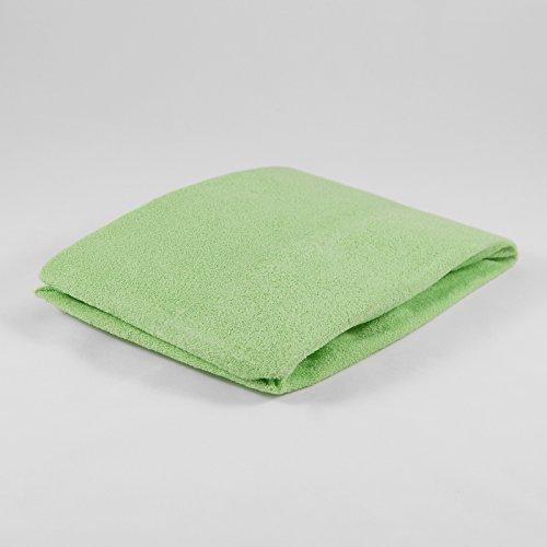 Drap housse ponge 40 x 90 cm vert feuilles drap de lit for Drap housse 40x90