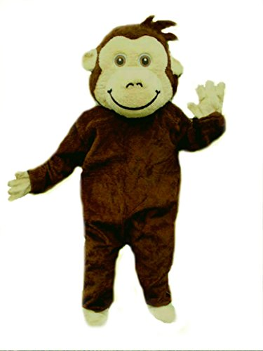 Mascots USA by Cjs Huggables Custom Professional Low Cost Monkey Mascot Costume