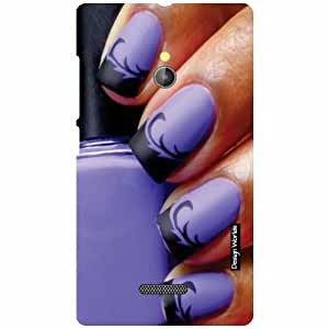 Design Worlds Nokia XL RM-1030/RM-1042 Back Cover - purple Designer Case and Covers