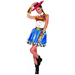Disguise Disney Pixar Toy Story Jessie Glam Womens Adult Costume, Blue/White/Yellow/Black, Medium/8-10