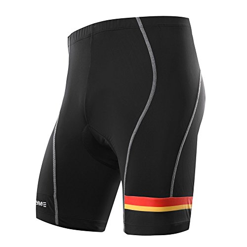 MEN'S CYCLING SHORT with 3D Pad - 8 Panel Anatomic, Color Block - Asymmetric Design (L) Ultra Cycle Short