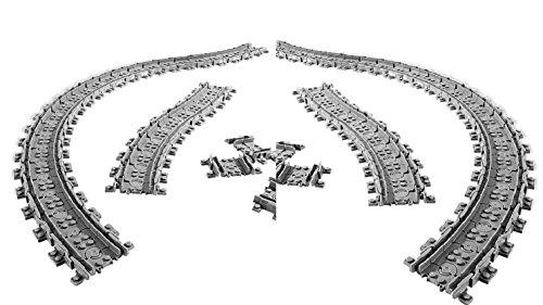 96 x Flexible Schienen für Lego City Eisenbahn