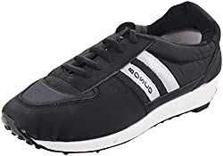 Bosco Mens Black Rubber Sports And Outdoor Shoes (KGN005, Size- 9 UK)