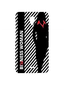 VDESI Designer Matte Back Cover For Micromax Unite 2 (A106)- Silhoute_BizWmn (Blk)