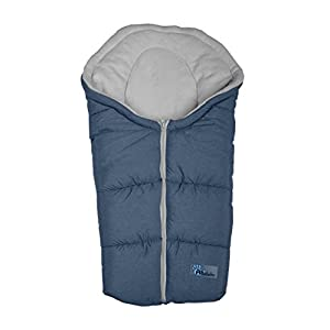 Altabebe Alpin Winter Footmuff for Baby Car Seat (0 - 12 Months, Dark Grey/Light Grey)