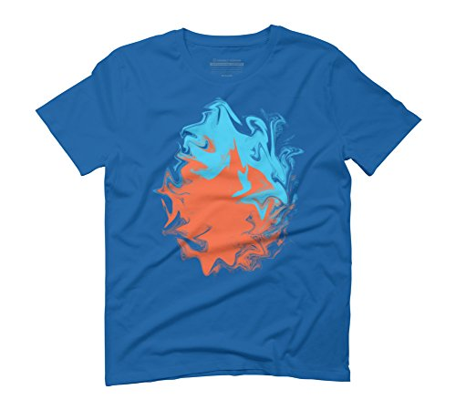inner-flame-fire-and-water-orange-blue-abstract-art-mens-3x-large-royal-blue-graphic-t-shirt-design-