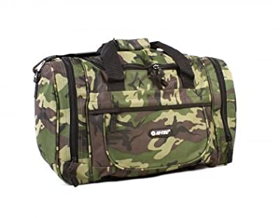 "Mens Boys Hi-Tec Camouflage Small-Large Holiday Weekend Gym Hand Luggage Flight Cabin Holdall Bag (18""/24"")(Desert/Green/Grey)"