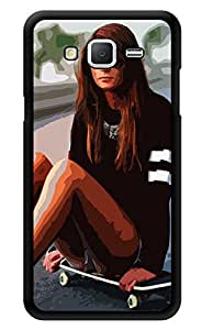 """Humor Gang Girl On Skateboard Printed Designer Mobile Back Cover For """"Samsung Galaxy On5"""" (3D, Glossy, Premium Quality Snap On Case)"""