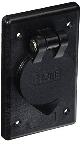 hubbell-wiring-systems-ph6597-polycarbonate-rectangular-phone-outlet-with-gasketed-and-spring-loaded