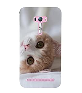 Cute Cat 3D Hard Polycarbonate Designer Back Case Cover for Asus Zenfone Selfie ZD551KL