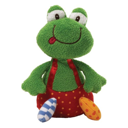 "Gund Baby 8"" Sock Hop Chime Plush Toy, Ribbitz Frog (Discontinued by Manufacturer)"