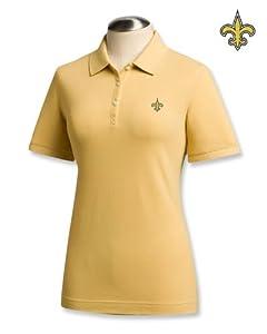 New Orleans Saints Ladies Ladies Ace 100% Cotton Polo Desert by Cutter & Buck