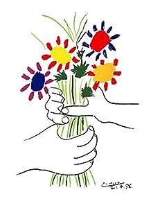 Pablo picasso fleurs et main impression d 39 art print 66 for Art et cuisine rm 101