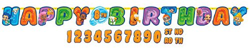 Bubble Guppies Kids Birthday Party Jumbo Add An Age Letter Banner 10 Ft. (1ct)