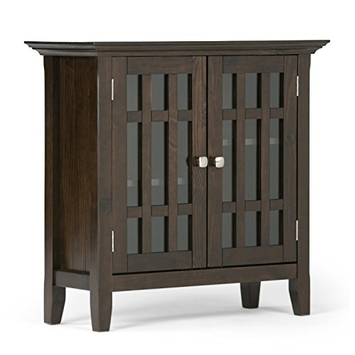 Simpli Home Bedford Low Storage, Dark Tobacco Brown (Media Cabinets compare prices)