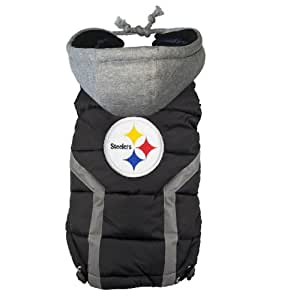 NFL Pittsburgh Steelers Dog Puffer Vest, Small