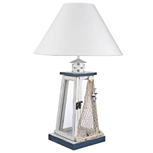 shabby chic vintage nautical storm lantern table desk lamp vintage. Black Bedroom Furniture Sets. Home Design Ideas