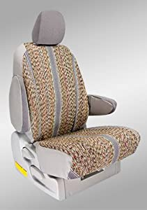 Shear Comfort Custom Chrysler Town and Country Seat Covers - THIRD ROW SEAT SET: Solid Bench w/ Center Arm and Adjustable Headrests (2001-2004) - Saddle Blanket Gray - Made in the USA
