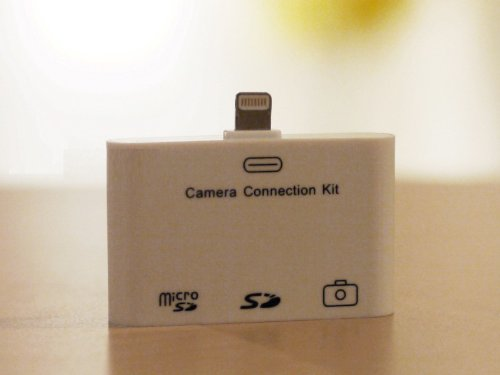 iAppTeam ® iPad mini, iPhone 5, iPad4 用 3in1 コネクションキット (SDカードリーダー/USBポート/micro SDカードリーダー) USBキーボードの外部接続も可能に♪ 最新iOS6.0も対応