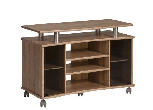 MAJA-Möbel 7362 4825 TV-Rack, Sonoma-Eiche-Nachbildung – Alu-Optik, Abmessungen BxHxT: 99,7 x 67,6 x 45 cm