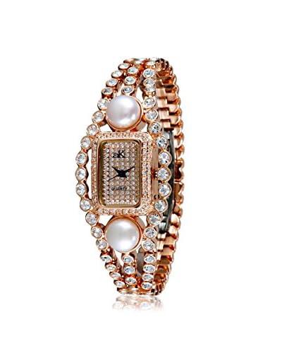 Adee Kaye Women's AK9-70LRG/CR Fame Collection Crystal & Brass Watch