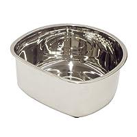 パール金属  アクアシャイン ステンレス製 D型 洗桶 25cm (ゴム足付) H-6287