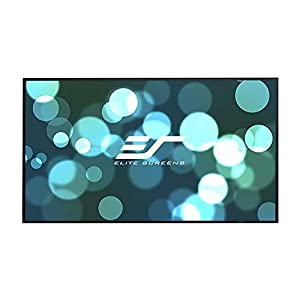 Elite Screens Aeon, 92-inch 16:9, 4K Home Theater Fixed Frame EDGE FREE Borderless Projection Projector Screen, AR92WH2