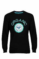 UV&W Full Sleeve Round Neck Black Sweatshirt