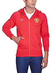 Nike Men's Hooded Cotton Sweatshirt (885177480202_618537-623_Small_Red, Yellow and White)