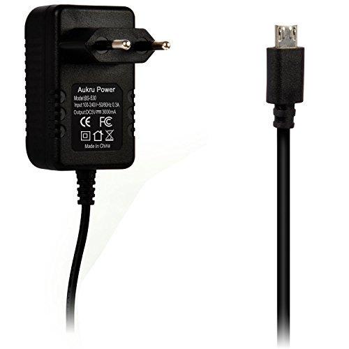 Aukru Micro USB 5V 3000mA Cargador Adaptador para Raspberry Pi 3 Model B y Raspberry Pi 2 Model B , Banana pi