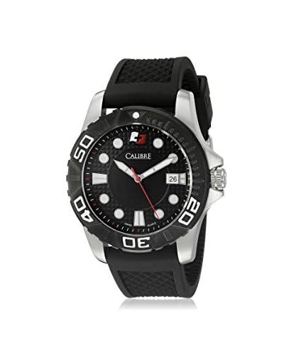 Calibre Men's Akron Black Rubber Watch