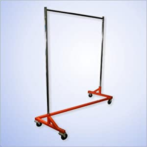 Heavy Duty Z Rack Rolling Garment Rack / Clothing Rack