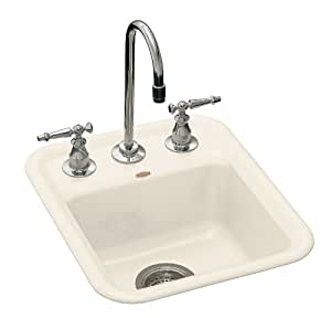 Kohler K 6560 2 47 Aperitif Self Rimming Entertainment Sink With Two Hole Faucet Drilling For 4