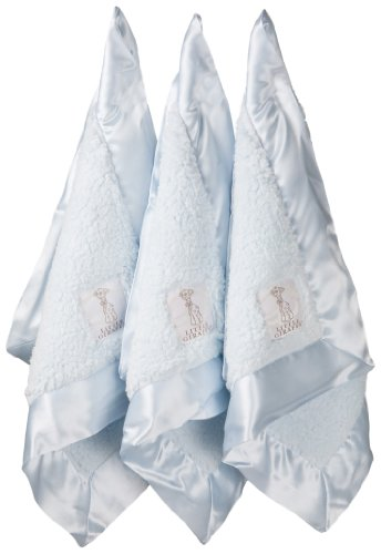 Little Giraffe Lovie Triangle Bella Blanket Gift Set, Blue