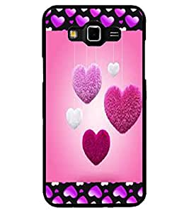 ColourCraft Love Hearts Design Back Case Cover for SAMSUNG GALAXY GRAND 3