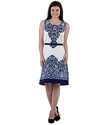 Beyond Origins Women's Dress (SD001_Blue_Large)