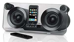 iHome IP1E High Fidelity Speaker System for iPhone and iPod - Black