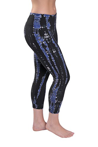 Hard Tail flat waist capri pants (midnight tie dye) (large) (Hard Tail Tie Dye Leggings compare prices)