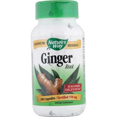 Natures Way Ginger Root 550Mg Capsules - 100 Ea