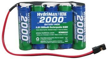HydriMax 6.0V 2000mAh NiMH AA Flat Rx U