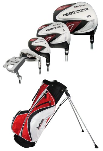 Tour Edge Men's Reaction 2 Complete Set (Right Hand, Graphite/Steel, Regular, Black)