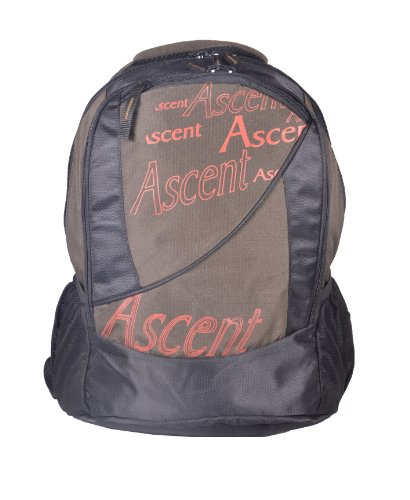 Aqsa Designer Bagpack BP3(Ascent - Black and bron) (orange)