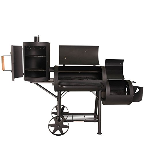 TAINO® PROFI XXL 110kg-Smoker BBQ GRILLWAGEN Holzkohle Grill Grillkamin 3,5 mm Stahl PROFI-QUALITÄT